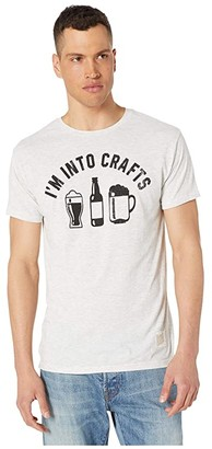 Original Retro Brand The I'm Into Crafts Short Sleeve Vintage Tri-Blend T-Shirt (Streaky Ash) Men's T Shirt