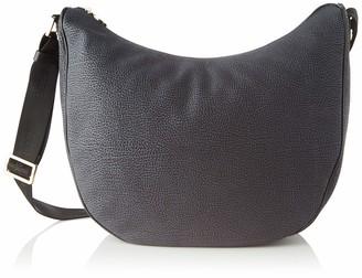 Borbonese Women's 963783695 Cross-Body Bag Black Black (NERO A00)