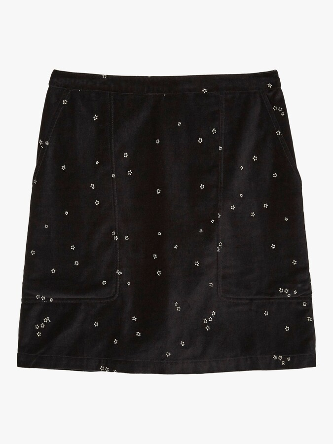 Thumbnail for your product : Fat Face FatFace Beth Embroidered Skirt, Black