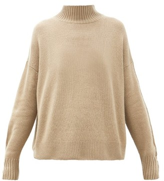 Allude High-neck Cashmere Sweater - Brown