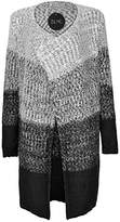 ZLYC Women Soft Fluffy Dip Dye Chunky Knitted Cardigan Gradient Color Sweater