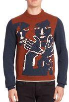 Salvatore Ferragamo Graphic Knit Wool Sweater