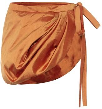 Y/Project Silk-shantung miniskirt