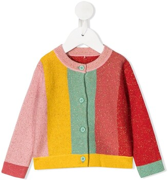 Stella McCartney Kids Colour-Block Knitted Cardigan