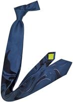 Emilio Pucci Blue Woven Silk Tie