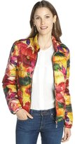 Moncler pink and yellow floral 'Lans' quilted jacket