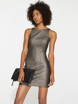 Halston Metallic Knit Mini Dress