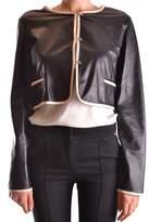 Burberry Women's Black Leather Jacket.