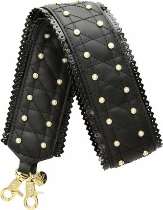 ZAC Zac Posen All That Jazz Quilted Pearl Strap Black
