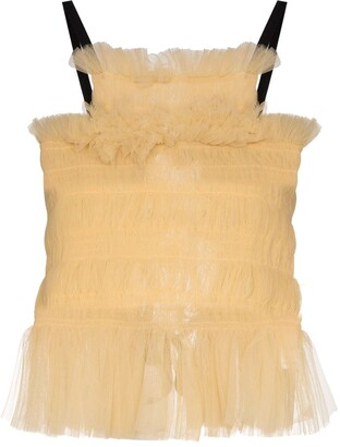 Molly Goddard Back Tie Tulle Top