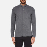 Oliver Spencer Eton Collar Shirt Lupin Charcoal