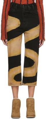 Eckhaus Latta Black Chemtrail Baggy Jeans