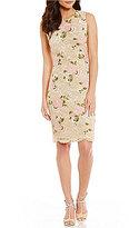 Calvin Klein Petite Embroidered Lace Sheath Dress