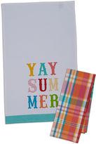 DESIGN IMPORTS Design Imports Yay Summer Set of 4 Kitchen Towels