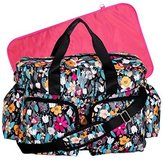 Trend Lab Turquoise Floral Deluxe Duffle Diaper Bag, Turquoise Floral by