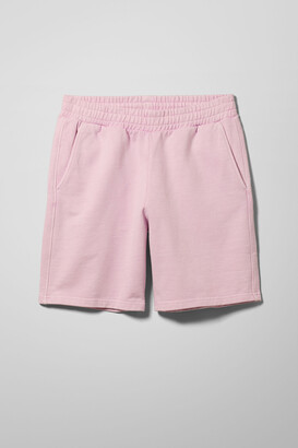 Weekday Hakim Washed Jersey Shorts - Grey