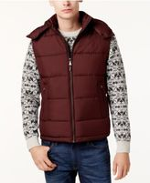 MICHAEL Michael Kors Men's Big and Tall Hooded Puffer Vest