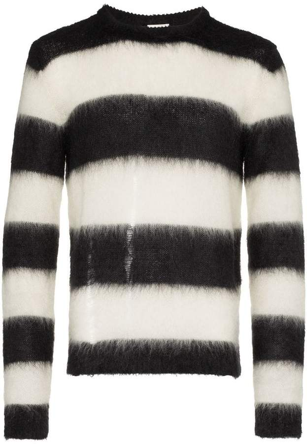Saint Laurent striped long sleeved sweater