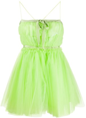 BROGNANO Tulle Babydoll Short Dress