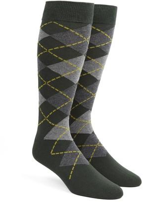 Tie Bar Argyle Hunter Dress Socks