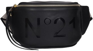 N°21 N.21 Waist Bag In Black Leather