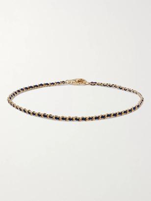 Miansai Woven Nylon And Gold Vermeil Bracelet