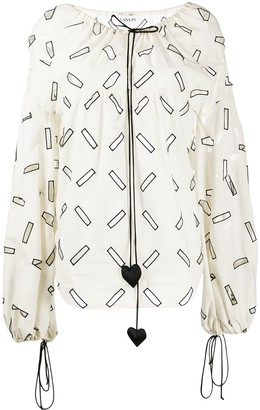 Lanvin geometric cut out blouse