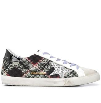 Golden Goose Superstar check pattern sneakers