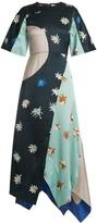 Roksanda Amaya floral-print hammered-satin dress