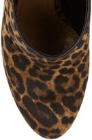 Alaia Leopard-print calf hair platform pumps