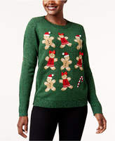 Karen Scott Petite Gingerbread Cookie Graphic Sweater, Created for Macy's