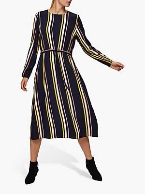 Selected Lucia Damina Striped Dress, Nigh Sky