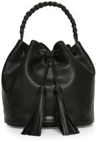 Vince Camuto Black Zinya Drawstring Bucket Bag