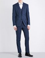 Sandro Tailored-fit notch-lapel pure-wool jacket