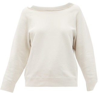 Nili Lotan Luka Raw-edged Boat-neck Cotton Sweatshirt - White