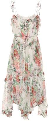 Zimmermann Bellitude floral silk-chiffon midi dress