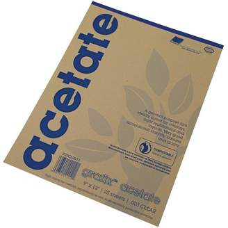 clear Grafix Acetate Pad, 9 X 12 in, Clear, 25 Sheets/Pad