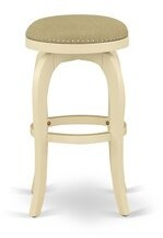 "Ophelia & Co. Elzada Swivel Counter & Bar Stool Seat Height: Bar Stool (30"" Seat Height), Color: Linen White"