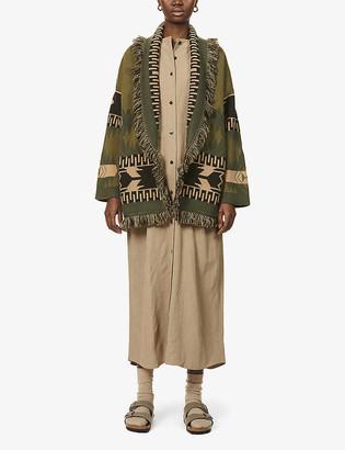 Alanui Icon fair isle-pattern cashmere cardigan