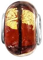 Jo for Girls Sterling Silver Gold & Orange Multi Line Murano Glass Bead