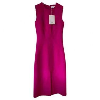 Courreges Pink Wool Dresses