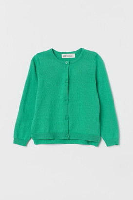 H&M Fine-knit cotton cardigan