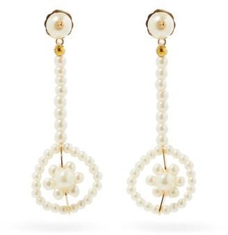 Shrimps Viola Faux-pearl Drop Earrings - Pearl
