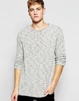 Bellfield Knitted Sweater in Gray Melange
