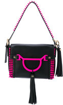 Borbonese contrast trim shoulder bag - women - Leather - One Size