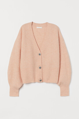 H&M Rhinestone-button Cardigan