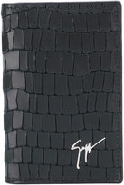 Giuseppe Zanotti Design Albert crocodile embossed card holder