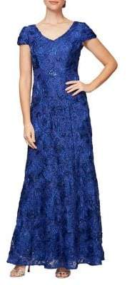 Alex Evenings Embellished Lace Gown