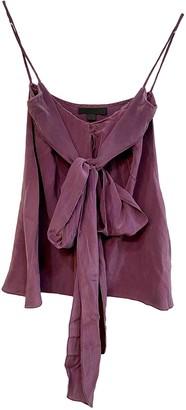 Jill Stuart Purple Silk Top for Women