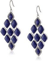 Lucky Brand Lapis Major Pave Earrings